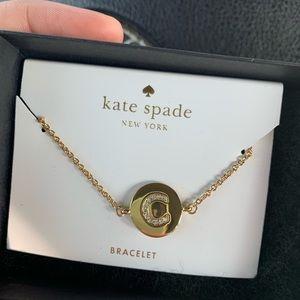 "Gold Kate Spade ""C"" bracelet"